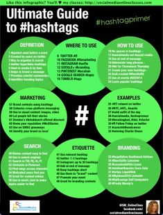 SEO Marketing Social Media The Ultimate Guide To Hashtags [Infographic] The Ultimate Guide To Hashtags [Infographic] Hashtags are ONE constant in an ever-changing social media world. So what are they and how can they help you in… Business Hashtags, Social Media Marketing Business, Digital Marketing Strategy, Marketing Strategies, Marketing Ideas, Marketing Books, Online Business, Inbound Marketing, Content Marketing