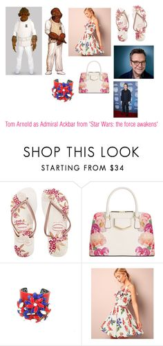 """""""Disney dream cast: Tom Arnold as Admiral Ackbar from 'Star Wars: the force awakens'"""" by sarah-m-smith ❤ liked on Polyvore featuring Havaianas, Calvin Klein and New Look"""
