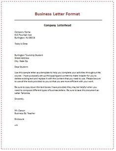 Business Letter Format  http://calendarprintablehub.com/business-letter-format.html
