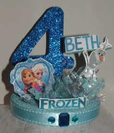 FROZEN Centerpiece with Elsa Anna Olaf An by KBKreations1, $16.95