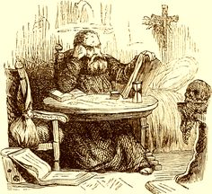 The Occultist Heinrich Cornelius Agrippa as depicted in Collin de Plancy's Dictionnaire Infernal, 1863 edition.