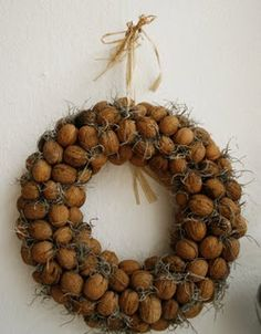 Beautiful Mother And Acorn Wreaths For A Natural Fall Decor autumn has come and we should welcome it with various cool decorations, under which a wreath is perh. Autumn Wreaths, Christmas Wreaths, Christmas Decorations, Christmas Ornaments, Holiday Decor, Wreaths And Garlands, Door Wreaths, Natural Fall Decor, Acorn Wreath