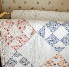 Love the old quilts that are somewhat faded and show that they were used and loved.
