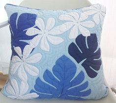 Miu-Mint: ☆Art cooperation shop ☆ handmade Hawaiian Ann kilt cushion cover discipline finished production kit including nine a month dramas Patchwork Cushion, Quilted Pillow, Cushion Fabric, Hawaiian Quilt Patterns, Hawaiian Quilts, Quilting Projects, Quilting Designs, Sewing Projects, Quilt Inspiration