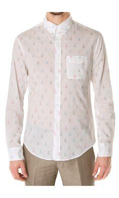 Band of Outsiders Sail-Boat Print #Shirt - #clothes