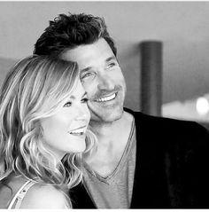 """Ellen Pompeo (Meredith Grey) & Patrick Dempsey (Derek """"McDreamy"""" Shepherd). Dempeo/Merder. Grey's Anatomy."""