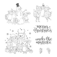Find More Stamps Information about  Merry Christmas animals Transparent Clear Silicone Stamp/Seal for DIY scrapbooking/photo album Decorative clear stamp P161,High Quality Stamps from liangshangmei Store on Aliexpress.com