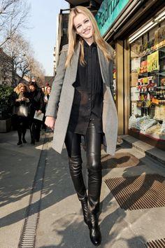 leather-trousers-via-what-to-wear-streetstyle-tumblr | Fashionisima