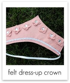felt dress-up crown