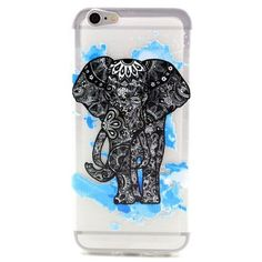 Mesh - iPhone 6 Hoesje - Back Case Siliconen Mandala Olifant Transparant | Shop4Hoesjes