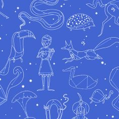 Constellations: Purple - Lizzy House - Constellations - Andover - Quilting Fabric