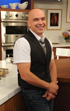 Michael Symon, I have the biggest crush on this man... Love him.