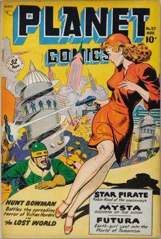Planet Comics #57 (Nov. 1958), cover by Joe Doolin