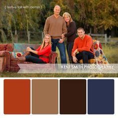 Portrait Palettes {festive fall with denim} #photography #clothing #colors…