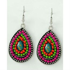 Lalita's Beaded Teardrop Earrings