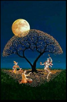 Lord Shiva as Nataraj with Nandi and Narad Muni in creative art painting Shiva Hindu, Shiva Art, Shiva Shakti, Hindu Deities, Krishna Art, Hindu Art, Lord Shiva Hd Images, Shiva Lord Wallpapers, Namaste