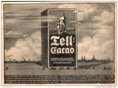Original-Werbung/ Anzeige 1911 - TELL CACAO / HARTWIG & VOGEL DRESDEN - ca. 190 x 130 mm