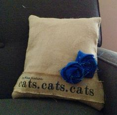 Handcrafted Burlap Kentucky Wildcats Pillow by VineandWineBoutique, #etsy