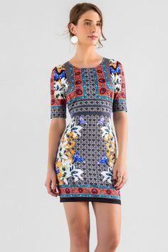Mariposa Printed Dress