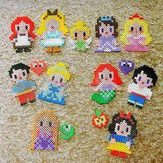 Disney Princess perler beads by seolhwayu