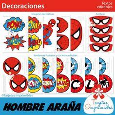 decoraciones-para-imprimir-hombre-araña