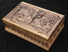 Jewelry Box carved with ornaments and motifs от BulgarMaster