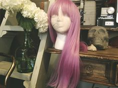 A personal favorite from my Etsy shop https://www.etsy.com/listing/451696952/lilac-wine-wig-with-bangs