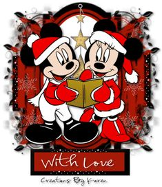 Mickey & Minnie Glitter Graphics | Mickey and Minnie Caroling - animated (Christmas 2008) - christmas ...