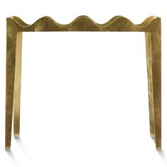 "Ruffle end table, finished in gold leaf, 28"" h. x 30"" l. x 18"" w., $2,685"
