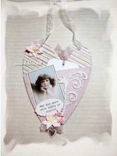 Bibbi's: Hjerte-kort med lomme og oppheng