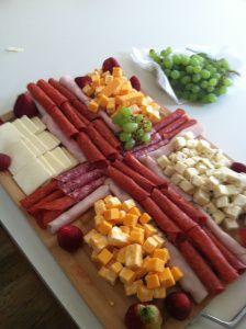 Cured meats in the shape of a cross