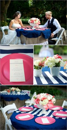 Navy And Pink Wedding Ideas - I'm so excited to be featured on Wedding Chicks blog! A touch of pink!