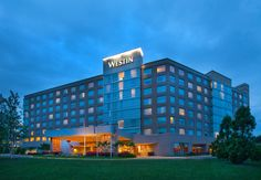 Westin Dulles Airport Hotel Exterior at Dusk  http://www.westindulles.com/