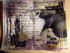 ArtJournal MixMedia by VickyTA in Madrid Love pasion beso MarakiScrap febrero 2015