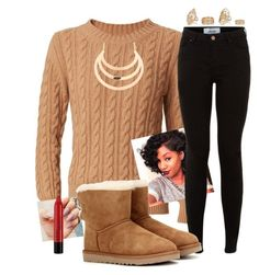 """Happy Thanksgiving ☺️"" by xposed-nothings on Polyvore featuring Burberry, River Island, UGG Australia and NYX"