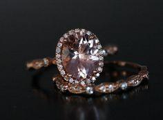 Rose Gold Morganite Ring Morganite Engagement by Twoperidotbirds