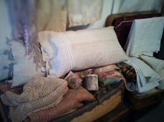 cozy homespun textiles from France & Italy ~ photo Heather Ross