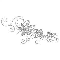 Wave flower tattoo