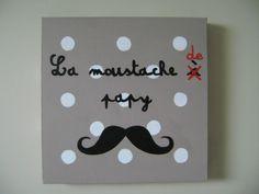 Les tableaux de cynthia B.  -  La moustache à papy 30x30