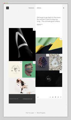 Mooie voorbeelden en inspiratie minimal website design | OCHER