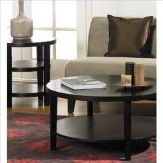 sunpan 'mixt' devons rustic concrete round coffee tablesunpan