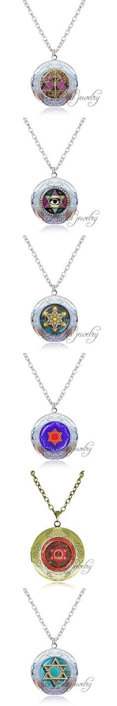 Drop Shipping 1pc Golden Star of David necklace Mogen David photo locket pendant silver chain Judaism,Solomon seal,Jewish Gift