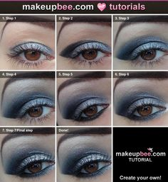 Step-By-Step #Tutorial for New Years eve sparkle on @Makeupbee