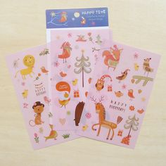 Planner Stickers  Happy Time Forest Friends by DancingQuinn