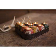 Multi Colored Tin Pool Ball Candle Holder Set Kalalou Candleholders Candle Holders Home De