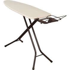 Household Essentials Top Extra Wide 4-Leg Ironing Board with Natural Cotton Cover and Iron Holder, Bronze - Walmart.com