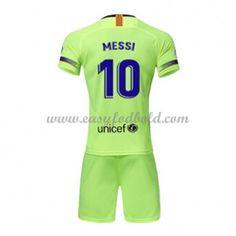 8c0282e95da97c Barcelona Børn Fodboldtrøjer 2018-19 Lionel Messi 10 Udebanetrøje Kinder  Trikot