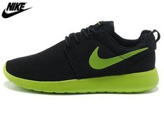 huge selection of fa431 83612 2013 Mens Nike Roshe One Mesh Running Shoes Black Green,Nike Shoes Sale  Online Nike