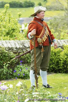 Royalists English Civil War | Stock Photo titled: Royalist Musketeer From English Civil War Period ...