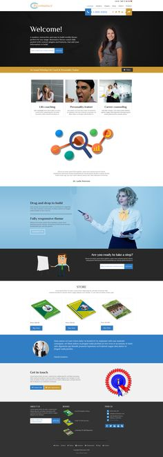 Modern, classy #weebly #website #theme perfect for professional #services. #Lifecoach #counselor,  #psychiatrist http://www.roomythemes.com/resonance-theme